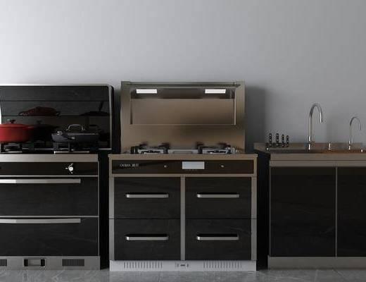 集成灶組合, 廚具組合, 洗手臺組合, 現代