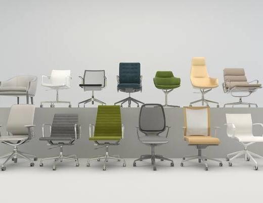 工装, 办公椅, 现代, 单体