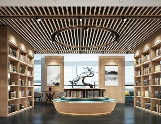 中式阅览室, 阅览室, 图书馆