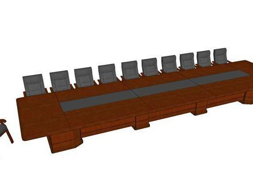 现代, 会议桌, 实木
