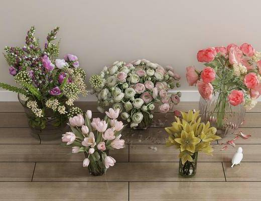 花瓶花卉, 鲜花, 现代花瓶花卉