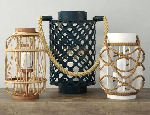 蜡烛台, 绳子, 现代
