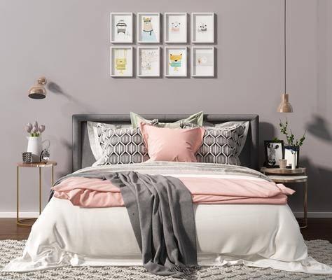 北歐雙人床, 雙人床, 床具組合