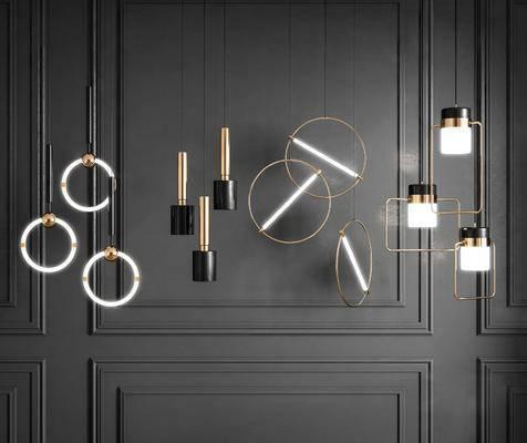 現代, 吊燈, 吊燈組合