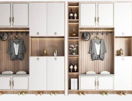 新中式, 鞋柜, 柜架