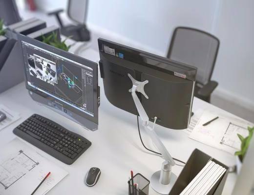 现代办公桌, 办公用品, 办公桌