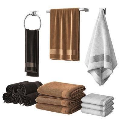 毛巾, 卫浴架, 浴室用品, 毛巾架, 现代