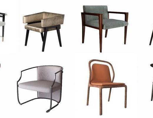 休闲椅组合, 新中式