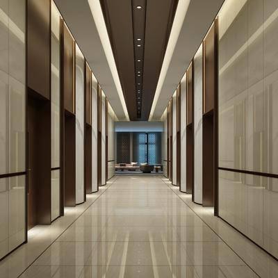 电梯间, 大堂大厅, 现代