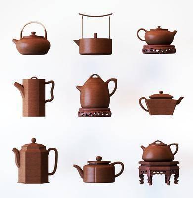 茶壶, 茶具, 摆件, 装饰品, 陈设品, 中式