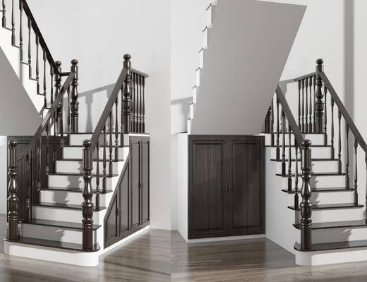 楼梯, 边柜