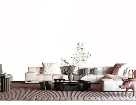 现代转角沙发, 布艺沙发