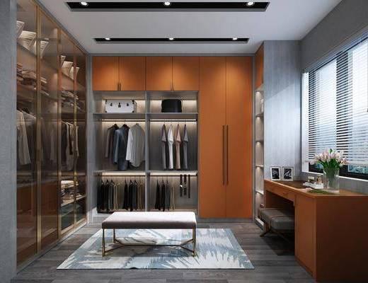 衣帽間, 衣柜, 桌椅組合, 衣架