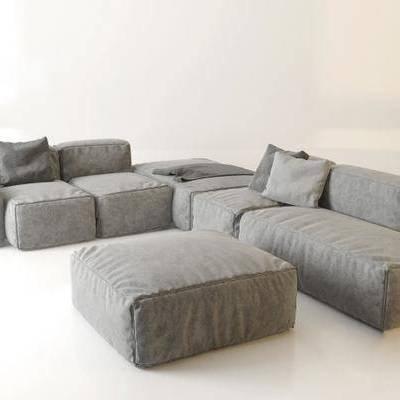 多人沙发, 布艺沙发, 沙发榻, 转角沙发, 现代