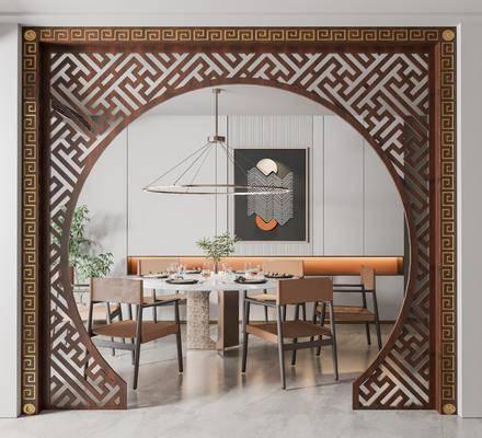 中式餐厅拱门