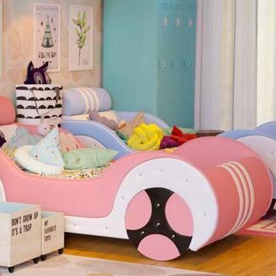 儿童床, 汽车, 玩具, 抱枕, 装饰品, 现代儿童床, 汽车床