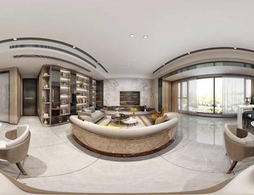 現代客廳, 客廳, 餐廳, 餐桌椅