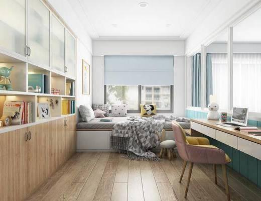 現代臥室, 臥室, 榻榻米, 北歐臥室