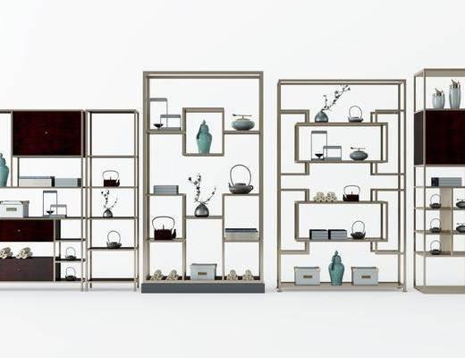 书柜, 书架, 柜架组合, 装饰柜