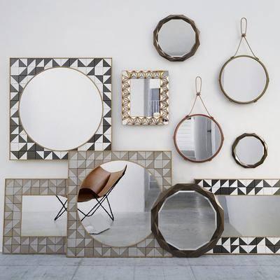 现代, 镜子, 装饰镜