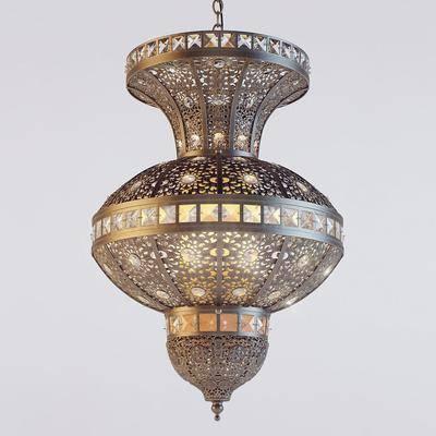 吊灯, 铁艺, 现代