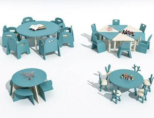 兒童, 桌椅, 組合