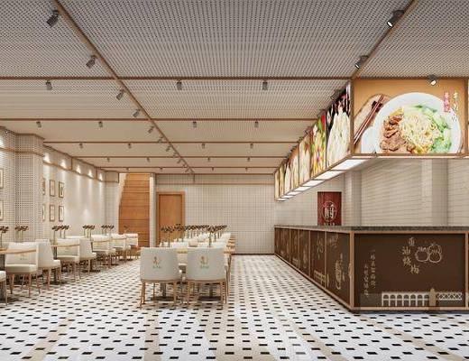 餐厅, 单人椅, 餐桌, 餐椅, 前台, 装饰画, 挂画, 装饰品, 陈设品, 现代