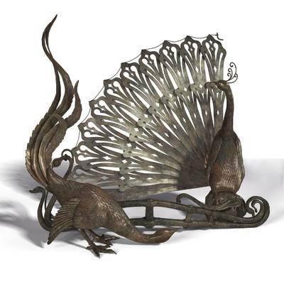铁艺, 孔雀, 雕塑, 装饰品3, 现代雕塑, 现代