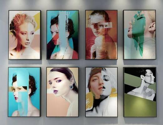 装饰画, 挂画, 人物画, 现代
