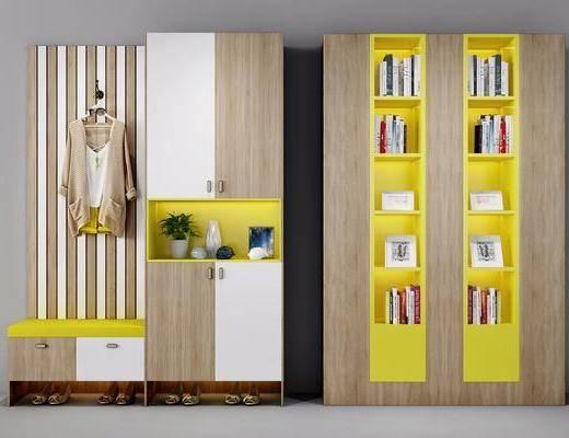 鞋柜, 书柜, 北欧鞋柜, 北欧书柜, 摆件, 书籍, 书本, 北欧