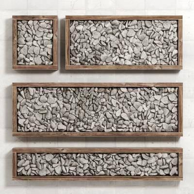 石头鹅卵石, 挂饰, 墙饰, 现代