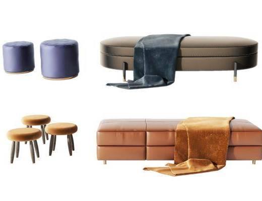 現代沙發凳, 現代沙發腳踏, 現代沙發坐凳