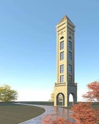 景观塔, 建筑, 钟楼
