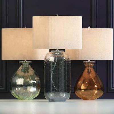 台灯, 玻璃台灯, 现代