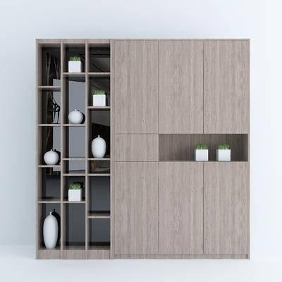 玄关柜, 玄关鞋柜, 装饰柜, 边柜, 现代, 实木