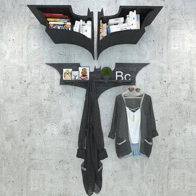 装饰书架, 架子, 衣挂, 陈设品, 衣服, 墙饰, 挂件, 衣架, 现代
