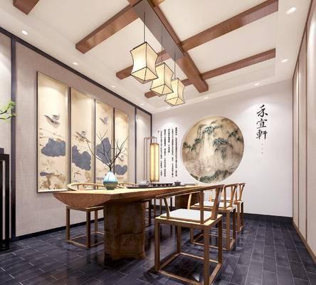 新中式茶室, 中式茶室, 茶室