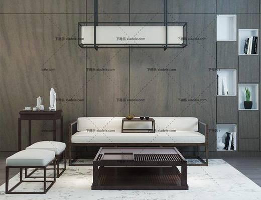 新中式沙发, 沙发组合, 多人沙发