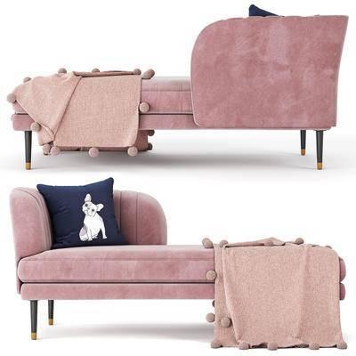 贵妃椅, 躺椅, 抱枕