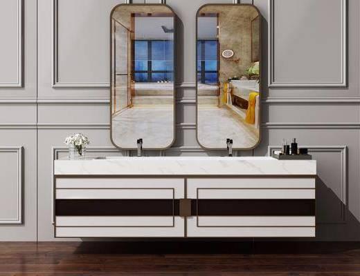 卫浴柜, 洗面盆, 洗手池, 洗手台, 卫浴组合