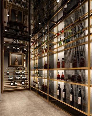 酒瓶, 红酒, 藏酒室