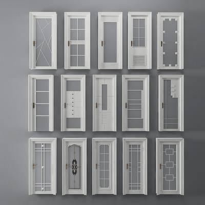 玻璃门, 平开门, 门组合, 现代
