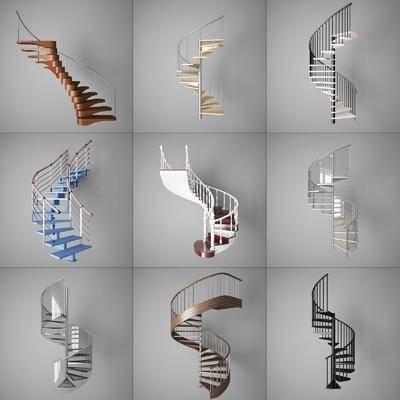 樓梯, 閣樓樓梯, 旋轉樓梯