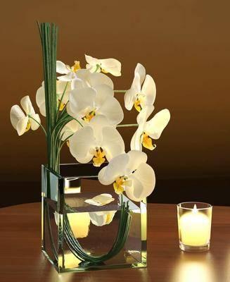 花瓶, 花卉, 花, 蜡烛, 现代
