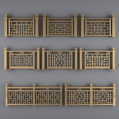 栏杆, 扶手, 扶梯, 金属栏杆, 中式栏杆