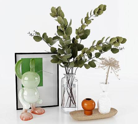 现代玻璃花瓶摆件