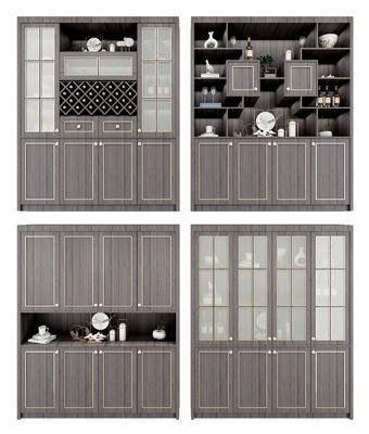 酒柜鞋柜, 装饰柜组合, 装饰品, 新中式