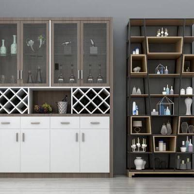 酒柜, 装饰架, 置物架, 陈设品, 摆件, 现代