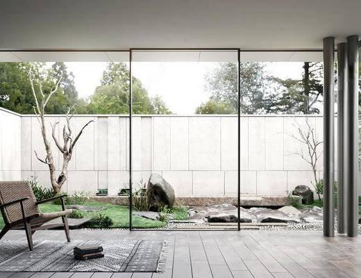 新中式, 庭院, 工�b
