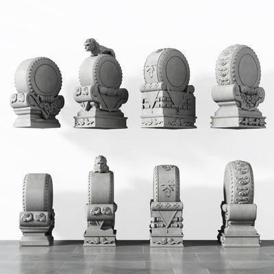 石雕, 雕刻, 雕像, 中式, 新中式